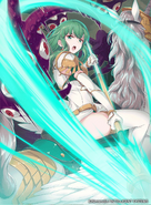 Palla as a Falcon Knight in Fire Emblem 0 (Cipher)