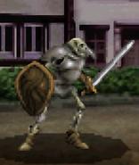Skeleton battle