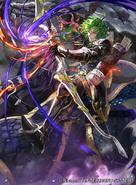 Randal as a Tellius Bow Paladin in Fire Emblem 0 (Cipher)