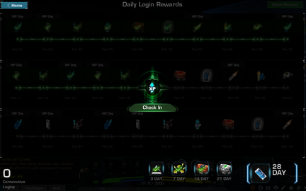Daily Login Rewards