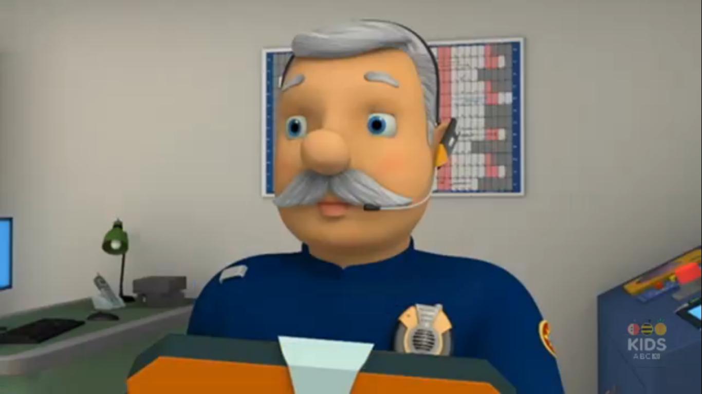 Image  Station officer Steele headsetpng  Fireman Sam Wiki