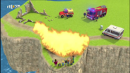 Pontypandy ruins grass fire