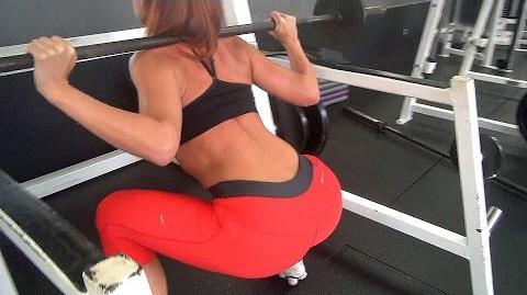 Woman Squats Fitness Inspiraton Workout