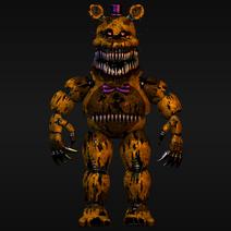 Nightmare fredbear render number 1
