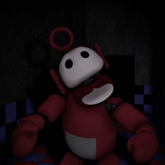 Po 2.0 in the Tubby Hall with no eyes, from the Nightmare Night.
