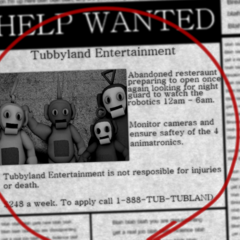 The newspaper shown when loading a new game in <i>Five Nights at Dipsy's</i>.