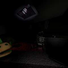 An unused image of Prototype Po in the ceiling vent.