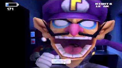 File:Waluigi doing his jumpscare with Mario behind him .jpg