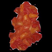 Uncut clinohumite gem