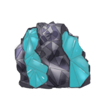 Raw aquamarine gem