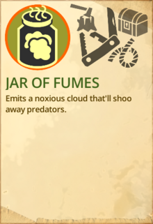 Jar of fumes