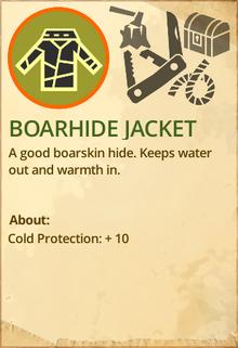 Boarhide jacket