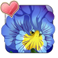 Blue Vein Pansy Icon