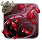 Red rose flowerfall