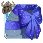 Sparkling Blue Neck Bow