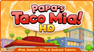 Papa's Taco Mia HD icon on the homepage