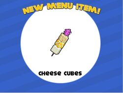 Cheese cubes unlocked