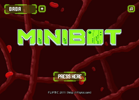 Minibot a menu screen