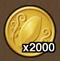 2,000 gold