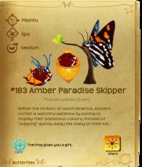 Amber Paradise Skipper§Flutterpedia Old