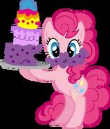 Pinkie Pie with cake