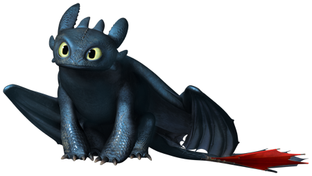 File:Toothless sitting with transparent background.png