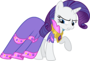 Rarity angry in dress