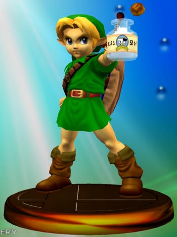 File:Trofeo de Young Link (Smash 1) SSBM.png