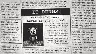 Burned Newspaper