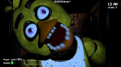 Five nights at freddy's chica jumpscare glitch