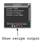 Cookbook show recipe output