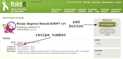 Recipe detail page