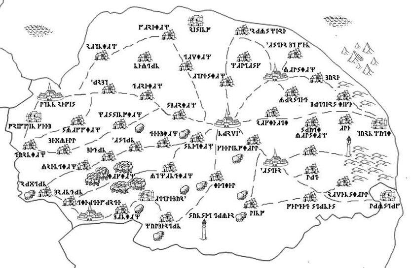 Norvic map Ithron