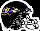 Baltimore Ravens helmet rightface