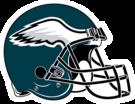 Philadelphia Eagles helmet rightface