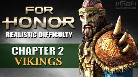 For Honor - Realistic Difficulty Walkthrough - Chapter 1- Vikings (No Commentary)