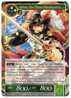 Athos, the Three Musketeer