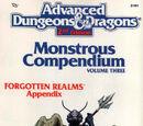 Monstrous Compendium Forgotten Realms Appendix (MC3)