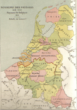 Map of the United Kingdom of the Netherlands