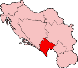 Map of SFRY Montenegro