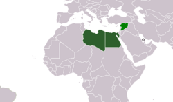 Map of the Federation of Arab Republics