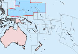 Map of the Trust Territory of the Pacific Islands