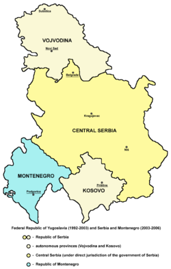 Map of FR Yugoslavia