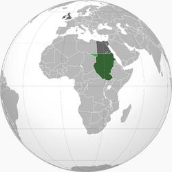 Map of Anglo-Egyptian Sudan