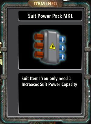 Suit Power Pack MK1