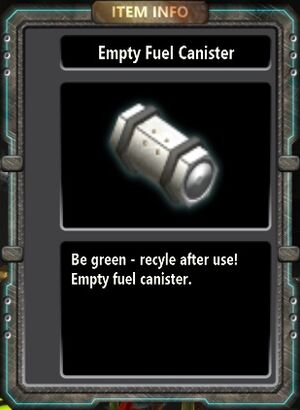 Empty Fuel Canister