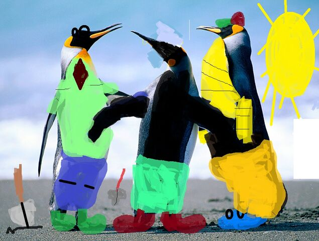 File:Penguins with unrelated things.jpg