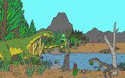 Triassic Trouble Scenerey