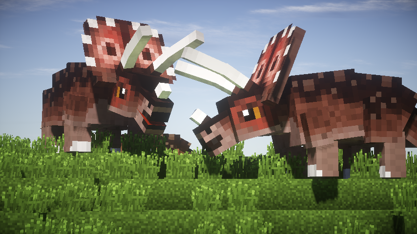how to build a triceratops in minecraft