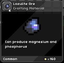Lazulite ore